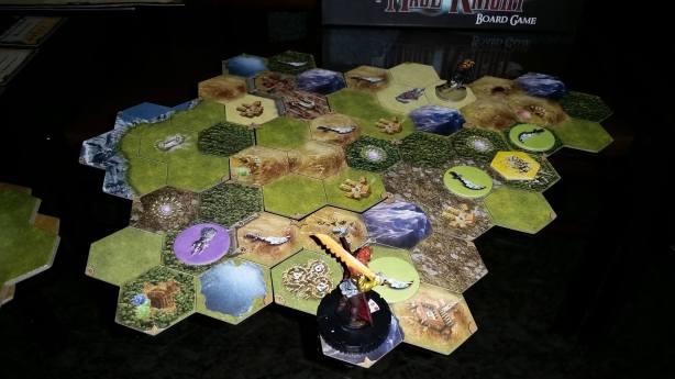 Fim da primeira noite, uma torre de magos conquistada, Volkare resolveu explorar a porção de baixo do mapa.